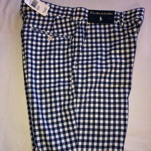 NWT Men's plaid Polo Ralph Lauren Shorts Sz 32